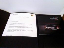 Pressemappe Mit Pressemitteilung: Mechanische Herzen Schlagen Im Gleichtakt. Blancpain & Lamborghini Und Produ - Ohne Zuordnung