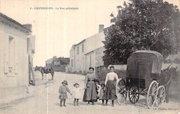 Cpa 85 Chevresses CHEVRETTE Lib Poupin Mortag..calèche Carte Animée Envoyée De Vendée Cachet La Roche Sur Yon - Unclassified