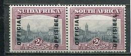 Union Of South Africa Official, Südafrika Dienst Mi# 8-9 Postfrisch/MNH - Servizio