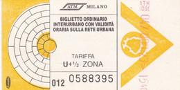 TICKET BUS ATM MILANO - Europe
