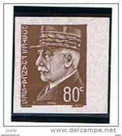 Pétain 80c Essai Non Dentelé, Non Gommé En Brun, Bord De Feuille, ** - 1941-42 Pétain