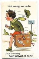 74 SAINT GERVAIS LE FAYET CARTE A SYSTEME 10 PETITES VUES SOUS LA VALISE 1952 CPA  3 SCANS - Saint-Gervais-les-Bains