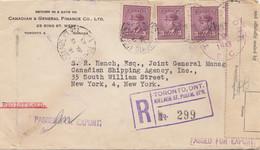 Canada: 1943: Toronto Registred To Shipping Agency USA, Censor - Non Classificati