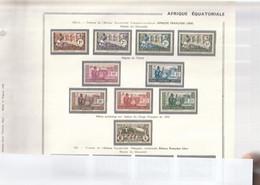 AEF 1940 - 1941 N°92 à 101 Neuf* - Unused Stamps