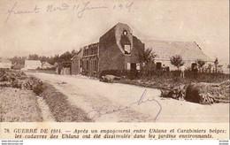 MILITARIA  GUERRE 1914- 18  Après Un Engagement Entre Uhlans Et Carabiniers Belges  ..... - Weltkrieg 1914-18