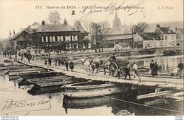 MILITARIA  GUERRE 1914- 18  CREH  Bombardé- Le Pont De Bateaux  ..... - Weltkrieg 1914-18