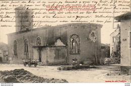 MILITARIA  GUERRE 1914- 18  REHAINVILLER  L' Eglise Après Le Bombardement  ..... - Weltkrieg 1914-18