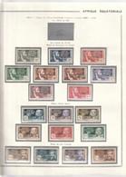 AEF 1940 Entre N°103 à 138 Neuf* - Unused Stamps