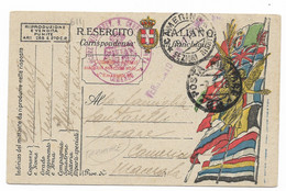 GRANDE GUERRA - DA POSTA MILITARE 62 A CAMERINO - 7.1.1918. - Marcophilia