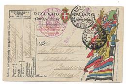 GRANDE GUERRA - DA POSTA MILITARE 62 A CAMERINO - 7.1.1918. - Marcofilie