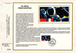 """"""" VOL SPATIAL FRANCO-SOVIETIQUE """" Sur Feuillet CEF 1er Jour Sur Soie De 1989. N° YT 2571. FDC - Zonder Classificatie"""