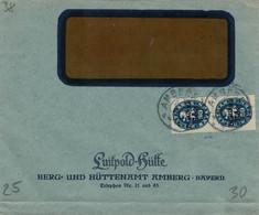 Dienst Luitpold-Hütte Berg- & Hüttenamt Amberg - Geprüft Infla Berlin - FK - Storia Postale