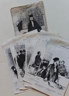 6 Planches Les Gens De Justice Honoré Daumier Avocat Juge Huissier Chez Aubert Place De La Bourse Imprimé En Suisse - Prenten & Gravure