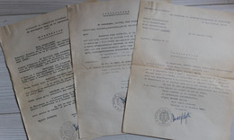 3 Attestations Participation à La Résistance à Limoges Bertrand René Falaise Gaston Hyllaire Léonie  Guerre WWII 39-45 - 1939-45