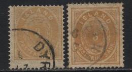Iceland (07) 1882. 3a. P14 X 13½. Shades. Used. - Oblitérés