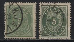 Iceland (08) 1882. 5a. P14x13½. Shades. Used. - Oblitérés