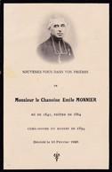 Faire-part De Décès - Mémento - Chanoine Emile Monnier - 10 Février 1925 - Le Russey (25) - Obituary Notices