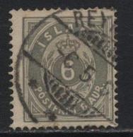 Iceland (09) 1876. 6a. P14x13½. Used. - Oblitérés