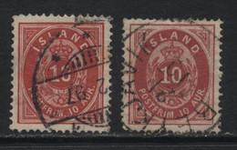 Iceland (10) 1876. 10a. P14x13½. Shades. Used. - Oblitérés
