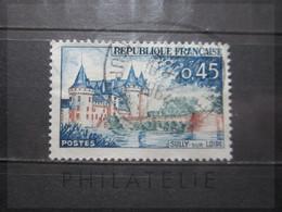 VEND BEAU TIMBRE DE FRANCE N° 1313 , TOIT BLEU CLAIR !!! - Variétés: 1960-69 Oblitérés