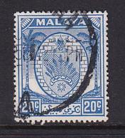 Negri Sembilan: 1949/55   Arms     SG54    20c   Bright Blue  Used - Negri Sembilan