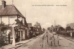 76 , LES GRANDES VENTES , Route De Dieppe , Pompe Essence Shell , *  453 59 - Andere Gemeenten