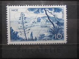 VEND BEAU TIMBRE DE FRANCE N° 1038 , CADRE INFERIEUR EFFACE , XX !!! - Varietà: 1950-59 Nuovi