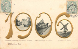 Dep - 45 - CHILLEURS AU BOIS  Chateau Chamerolles Eglise Le Moulin 1906 Multivues - Altri Comuni
