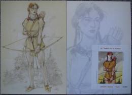 Juillard - Plume Aux Vents - Ariane - Carte Promo - Timbre Nation - Illustratoren J - L