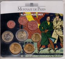 REF 1  : Monnaie Set Complet Et Neuf Blake Et Mortimer Monnaie De Paris 2010 N° 105 / 500 Ex. BU Euro France - France