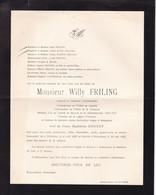 HOBOKEN BRASSCHAAT FRILING Willy époux DONNET  Médaille D'or Comité De Secours Et D'alimentation 1914-1918 MUND 1956 - Esquela