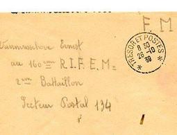 F 4 1939  Lettre FM SP 134 - Guerra De 1939-45