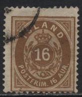 Iceland (13) 1876. 16a Brown. P14x13½.Used. - Oblitérés