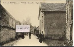 VORGES Grande Rue Et Eglise - Env. De Busy - Andere Gemeenten