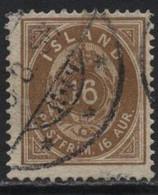 Iceland (14) 1876. 16a Brown. P14x13½.Used. - Oblitérés