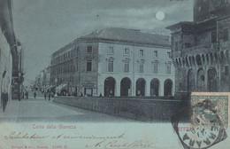FERRARA-CORSO DELLA GIOVECCA-CARTOLINA VIAGGIATA NEL 1900 - Ferrara