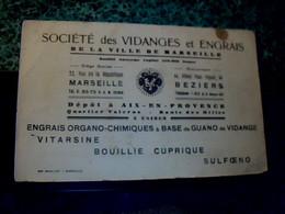 Buvard D'occasion Société Des Vidanges Et Engrais De Marseille  Engrais Organo Chimique A Base De Guano De Vidanges - S