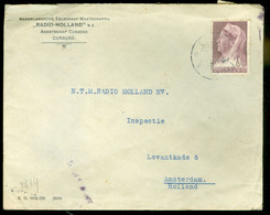 GECENSUREERDE BRIEFOMSLAG Van CURACAO Naar AMSTERDAM   (11.866L) - Curaçao, Nederlandse Antillen, Aruba