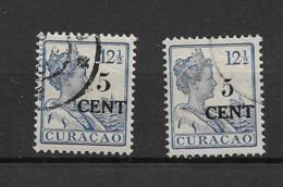 1918 USED Curaçao NVPH 74, 74a - Curaçao, Nederlandse Antillen, Aruba