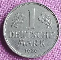 GERMANY : 1 Mark 1960 J KM 110 KEY DATE - 1 Mark