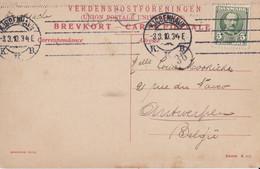 Brevkort - Carte Postale  Sent From Kjobenhavn (Langebro) To Antwerpen 1910 - Briefe U. Dokumente