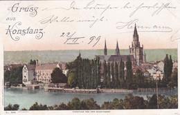 4812810Gruss Aus Konstanz Von Der Seestrasse. – 1899. (rechts Beschädigung) - Konstanz
