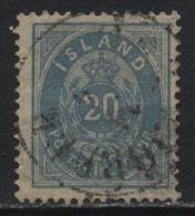 Iceland (17) 1882. 20a Blue. P14x13½. Used. - Oblitérés