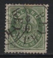 Iceland (20) 1882. 40a Green. P14x13½. Used. - Oblitérés