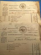Pontoise 1809 Et 1812: Contributions Directes , Port 2€ - Manoscritti