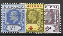 1908 St Helena Mh * 13 Euros Multiple CA Watermark - Sint-Helena