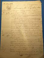 Pontoise 1808: Acte, Donation, 2 Gdes Pages , Port 2€ - Manoscritti