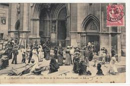 CPA  CHALONS / SAONE  La Sortie De La Messe à Saint - Vincent  N° 7 - Chalon Sur Saone