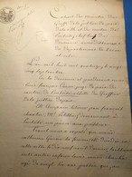 Pontoise 1814: Acte 4 Pages, Pâtissier Rue Pierre Aux Poissons. Port2€ - Manoscritti