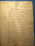 Pontoise 1793: Acte 3p, Timbre Expédition, Port 2€ - Manoscritti